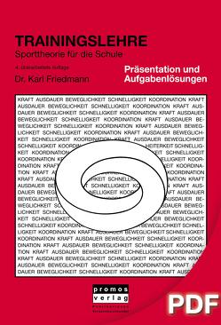 Trainingslehre – Aufgabenlösungen, Abbildungen und Tabellen als Präsentation von Friedmann,  Karl