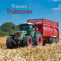 Traktoren 2021 – Wand-Kalender – Broschüren-Kalender – A&I – 30×30 – 30×60 geöffnet