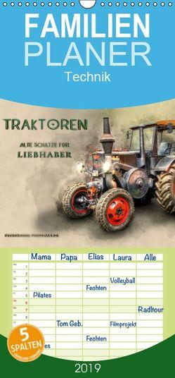 Traktoren – alte Schätze für Liebhaber – Familienplaner hoch (Wandkalender 2019 , 21 cm x 45 cm, hoch) von Roder,  Peter