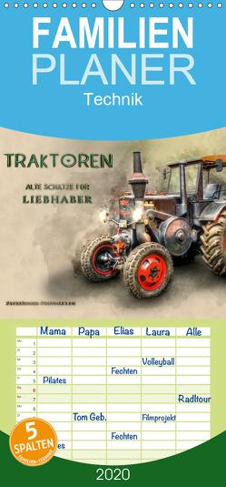 Traktoren – alte Schätze für Liebhaber – Familienplaner hoch (Wandkalender 2020 , 21 cm x 45 cm, hoch) von Roder,  Peter