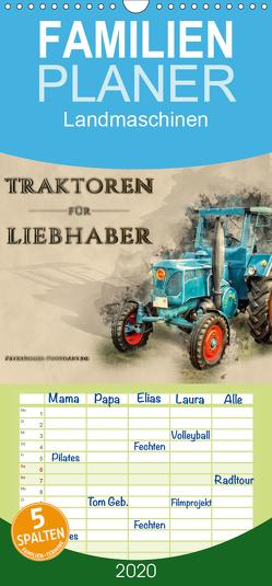 Traktoren für Liebhaber – Familienplaner hoch (Wandkalender 2020 , 21 cm x 45 cm, hoch) von Roder,  Peter