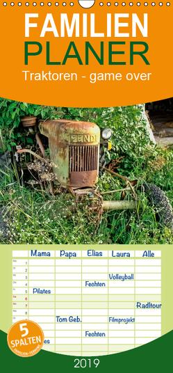 Traktoren – game over – Familienplaner hoch (Wandkalender 2019 , 21 cm x 45 cm, hoch) von Roder,  Peter