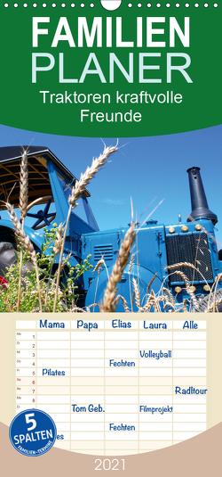 Traktoren kraftvolle Freunde – Familienplaner hoch (Wandkalender 2021 , 21 cm x 45 cm, hoch) von Laue,  Ingo
