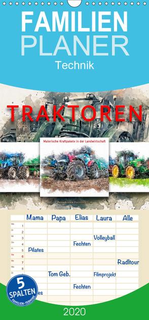 Traktoren – malerische Kraftpakete in der Landwirtschaft – Familienplaner hoch (Wandkalender 2020 , 21 cm x 45 cm, hoch) von Roder,  Peter