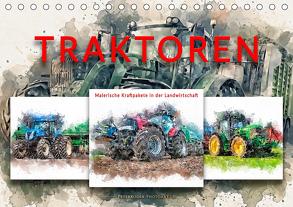 Traktoren – malerische Kraftpakete in der Landwirtschaft (Tischkalender 2020 DIN A5 quer) von Roder,  Peter