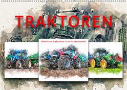 Traktoren – malerische Kraftpakete in der Landwirtschaft (Wandkalender 2019 DIN A2 quer) von Roder,  Peter