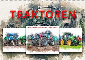 Traktoren – malerische Kraftpakete in der Landwirtschaft (Wandkalender 2020 DIN A2 quer) von Roder,  Peter