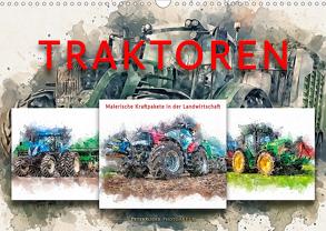 Traktoren – malerische Kraftpakete in der Landwirtschaft (Wandkalender 2020 DIN A3 quer) von Roder,  Peter