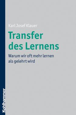 Transfer des Lernens von Klauer,  Karl-Josef