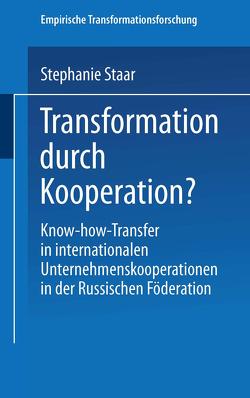 Transformation durch Kooperation? von Staar,  Stephanie