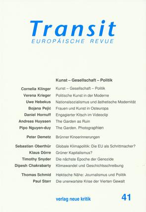 Transit 41 von Hebekus,  Uwe, Klinger,  Cornelia, Krieger,  Verena, Michalski,  Krzysztof