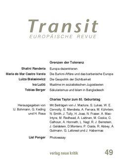 Transit 49. Europäische Revue von Berger,  Tobias, Bialasiecwicz,  Luiza, Lucic,  Iva, Marczewski,  Pawel, Michalski,  Krzysztof