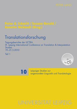 Translationsforschung von Herold,  Susann, Schmitt,  Peter A., Weilandt,  Annette