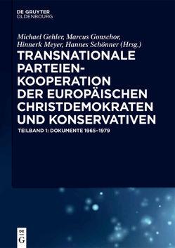 Transnationale Parteienkooperation der europäischen Christdemokraten und Konservativen von Affo,  Kassi-Kassi, Gehler,  Michael, Gonschor,  Marcus, Gronier,  Michael, Meyer,  Hinnerk, Scarano,  Federico, Schönner,  Hannes