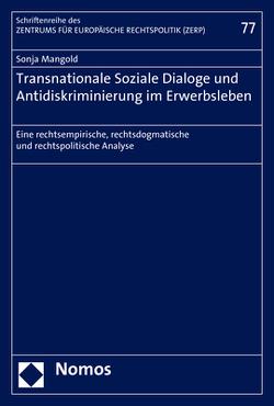 Transnationale Soziale Dialoge und Antidiskriminierung im Erwerbsleben von Mangold,  Sonja