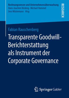Transparente Goodwill-Berichterstattung als Instrument der Corporate Governance von Rauschenberg,  Fabian