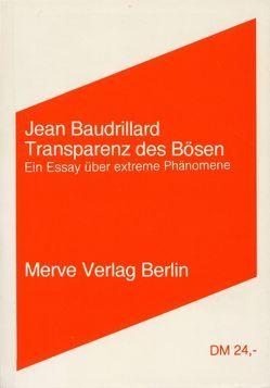 Transparenz des Bösen von Baudrillard,  Jean, Ott,  Michaela