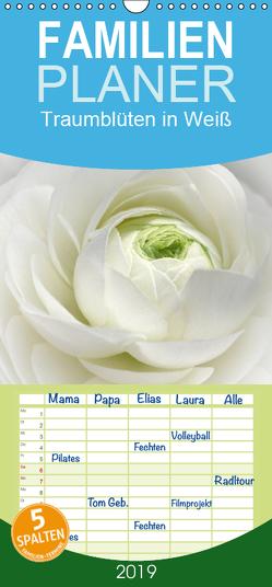 Traumblüten in Weiß – Familienplaner hoch (Wandkalender 2019 <strong>21 cm x 45 cm</strong> hoch) von Cross,  Martina