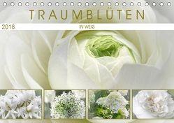 Traumblüten in Weiß (Tischkalender 2018 DIN A5 quer) von Cross,  Martina