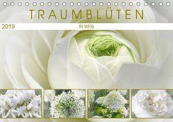 Traumblüten in Weiß (Tischkalender 2019 DIN A5 quer) von Cross,  Martina