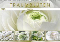 Traumblüten in Weiß (Wandkalender 2019 DIN A3 quer) von Cross,  Martina