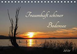 Traumhaft schöner Bodensee (Tischkalender 2021 DIN A5 quer) von Christine Horn,  BlattArt