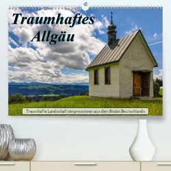 Traumhaftes Allgäu (Premium, hochwertiger DIN A2 Wandkalender 2021, Kunstdruck in Hochglanz) von Wenk,  Marcel