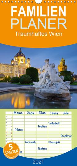 Traumhaftes Wien – Familienplaner hoch (Wandkalender 2021 , 21 cm x 45 cm, hoch) von Mirau,  Rainer