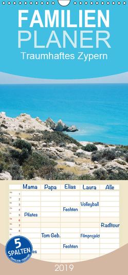 Traumhaftes Zypern – Familienplaner hoch (Wandkalender 2019 , 21 cm x 45 cm, hoch) von Fehske-Egbers,  Iris, Rosenkatzen-Fotografie