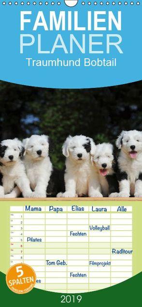 Traumhund Bobtail – Familienplaner hoch (Wandkalender 2019 , 21 cm x 45 cm, hoch) von Starick,  Sigrid