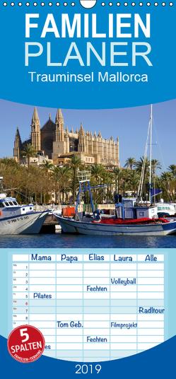 Trauminsel Mallorca – Familienplaner hoch (Wandkalender 2019 , 21 cm x 45 cm, hoch) von Reupert,  Lothar