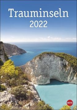 Trauminseln Kalender 2022 von Heye