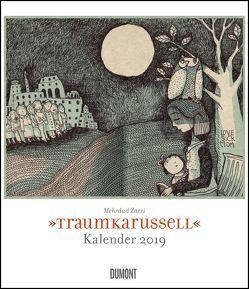 Traumkarussell 2019 – Illustriert von Mehrdad Zaeri – Wandkalender im Format 34,5 x 40 cm – Spiralbindung von DUMONT Kalenderverlag, Zaeri,  Mehrdad