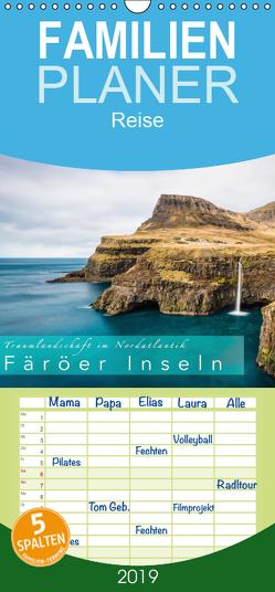 Traumlandschaft im Nordatlantik. Färöer Inseln – Familienplaner hoch (Wandkalender 2019 , 21 cm x 45 cm, hoch) von Feiner,  Denis