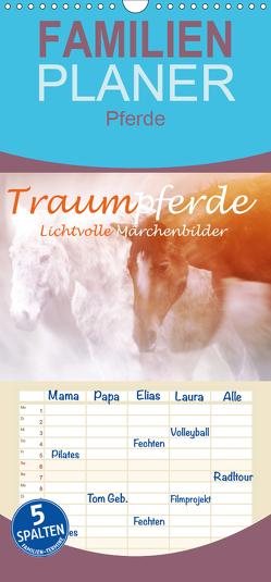 Traumpferde. Lichtvolle Märchenbilder – Familienplaner hoch (Wandkalender 2019 , 21 cm x 45 cm, hoch) von Brunner-Klaus,  Liselotte