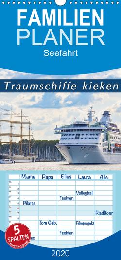Traumschiffe kieken – Familienplaner hoch (Wandkalender 2020 , 21 cm x 45 cm, hoch) von Kulartz,  Rainer, Plett,  Lisa