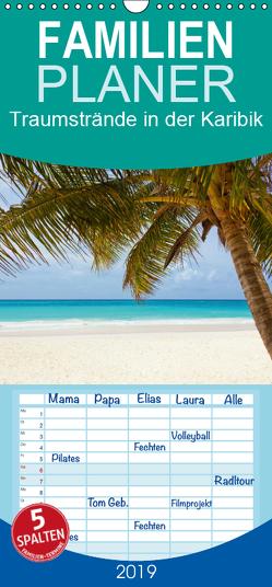 Traumstrände in der Karibik – Familienplaner hoch (Wandkalender 2019 , 21 cm x 45 cm, hoch) von Stanzer,  Elisabeth