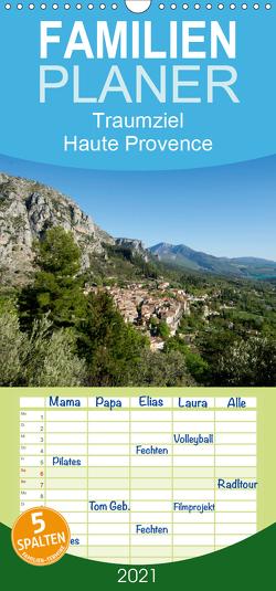 Traumziel Haute Provence – Familienplaner hoch (Wandkalender 2021 , 21 cm x 45 cm, hoch) von Voigt,  Tanja