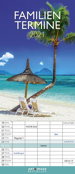 Traumziele 2021 A&I Familienplaner -Familienkalender – Wandkalender – 19,5×45