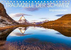 TRAUMZIELE DER SCHWEIZ Impressionen (Tischkalender 2019 DIN A5 quer) von Dieterich,  Werner