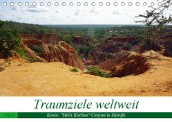 """Traumziele weltweit – Kenia: """"Hells Kitchen"""" Canyon in Marafa (Tischkalender 2019 DIN A5 quer) von Schnoor,  Christian"""