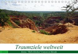 """Traumziele weltweit – Kenia: """"Hells Kitchen"""" Canyon in Marafa (Tischkalender 2021 DIN A5 quer) von Schnoor,  Christian"""