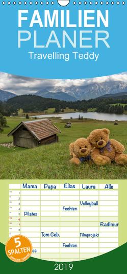 Travelling Teddy – Familienplaner hoch (Wandkalender 2019 , 21 cm x 45 cm, hoch) von C-K-Images