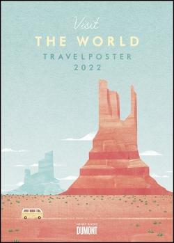 Travelposter 2022 – Reiseplakate-Kalender von DUMONT– Wand-Kalender – Poster-Format 50 x 70 cm von Rivers,  Henry