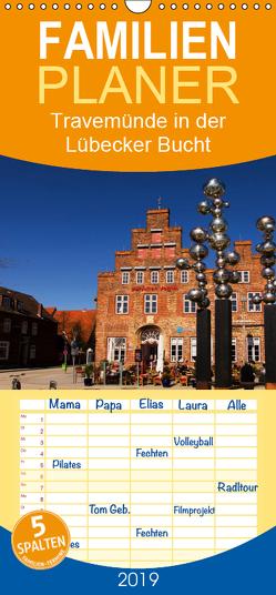 Travemünde in der Lübecker Bucht – Familienplaner hoch (Wandkalender 2019 , 21 cm x 45 cm, hoch) von Riedel,  Tanja