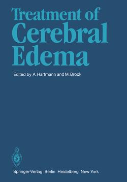 Treatment of Cerebral Edema von Brock,  Mario, Hartmann,  A.