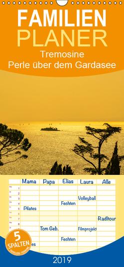 Tremosine – Perle über dem Gardasee – Familienplaner hoch (Wandkalender 2019 , 21 cm x 45 cm, hoch) von Männel - studio-fifty-five,  Ulrich