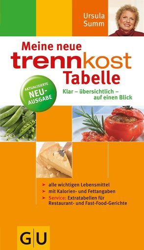 trennkost-Tabelle, Meine neue von Summ,  Ursula