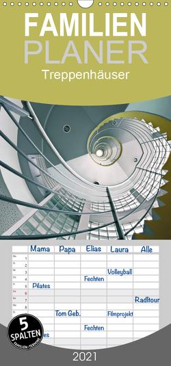 Treppenhäuser – architektonische Kunstwerke – Familienplaner hoch (Wandkalender 2021 , 21 cm x 45 cm, hoch) von Will,  Thomas