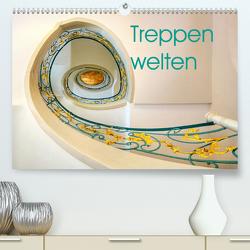 Treppenwelten (Premium, hochwertiger DIN A2 Wandkalender 2021, Kunstdruck in Hochglanz) von Seltmann,  Anne